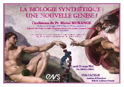 Conférence Biologie synthétique